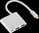 hama 3in1-USB-C-Multiport-Adaptateur - Pour USB 3.1, HDMI™ et USB-C - Blanc