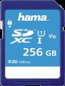 hama SDXC Class 10 UHS-I - Carte mémoire - 256 Go - Bleu