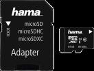 hama microSDXC UHS-I + Adapter/Foto - Speicherkarte - 64 GB - Schwarz