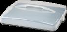 xavax Blechkuchen Transportbox - Anthrazit/Transparent