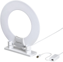 hama 121657 - DVB-T/DVB-T2-Zimmerantenne - Ring-Design - Weiss/Schwarz