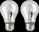 xavax 112451 - Halogen-Glühlampe - E27, Warmweiss, 2 Stück - 30 W