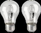 xavax 112454 - Ampoule à incandescence halogène - E27, blanc chaud, 2 pièces - 77 W