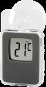 hama - Digital Fensterthermometer - Für Innen und Aussen - Grau
