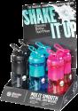 xavax Sportmixer - Shaker - 6 Stück - Schwarz/Blau/Pink