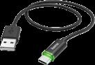 hama Lade-/Datenkabel - USB Type-C - Mit LED-Anzeige - Schwarz