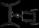 hama 108712 - TV-supporto da parete FULLMOTION - Da 81 a 165 cm (32 a 65) - Nero