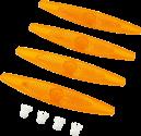 hama Réflecteurs de roue de vélo - 4 pièces - Orange