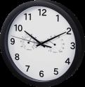 hama Pure Plus - Horloge murale - Avec thermomètre/hygromètre - Noir
