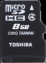 TOSHIBA microSDHC M102, 8 GB