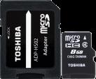 TOSHIBA microSDHC M102 mit SD-Adapter, 8 GB