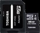 TOSHIBA microSDHC M102 mit SD-Adapter, 16 GB