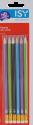 ISY IOE-1018 - 6 Crayons avec gommes à effacer - Noir