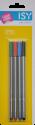 ISY  IOE-1042 - Fineliner - 4 couleurs - Bleu/Noir/Vert/Rouge