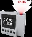 ISY IDC 4101 - Projektionsuhr - LC Display - Grau