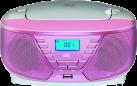 ok. ORC 311 - Radioregistratore - con USB - Rosa