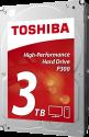 TOSHIBA P300 - interne 3.5-Festplatte - 3 TB - Silber