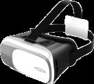 ednet 87000 - Virtual Reality Brille - Für Smartphones 4.7 - 6.0 - Schwarz/Grau