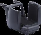 HR-imotion 10511901 - Porte-gobelet - Avec attache de serrage - Noir