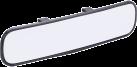 HR-imotion 10410901 - Specchietto interno Panorama - Con paraschegge - Nero
