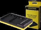 PATONA Dual USB NP-W126 - Caricabatterie - Micro USB - Nero/Giallo