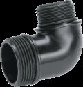 GARDENA Adaptateur de pompe d'évacuation - 42 mm(G 5/4) / 33.3 mm(G 1) - Pour GARDENA pompes - Noir
