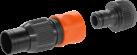 GARDENA Connexion motopompe - Pour Tuyau 19 mm (3/4) - Noir/Orange