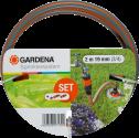 GARDENA Set de connexion grand débit - Filetage: 26,5 mm/33,3 mm - Gris/Orange