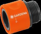 GARDENA Pezzo di transizione di tubo - Filo maschile:  26.5 mm (G 3/4) - Arancia/Nero