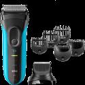 BRAUN Series 3 Shave&Style 3010BT - Rasoir - Capacité de l'accu 45 min. - Noir/Bleu