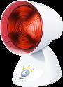beurer IL 35 Infrarotlampe - Wohltuende Wärme mit 3-stufigem elektronischem Timer - Weiss