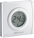Devolo Home Control - Raumthermostat - 0° - 40°C - Weiss