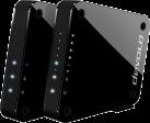 devolo GigaGate Starter Kit - WLAN-Accesspoint - 2 Gbit/s Übertragungsleistung - Schwarz