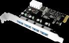 ICYBOX IB-AC614a - USB 3.0 PCI-E Erweiterungskarte - mit 4x USB 3.0 - Weiss