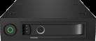 ICYBOX IB-2212SSK - Wechselrahmen - für 2.5 SATA/SAS HDD/SSD - Schwarz