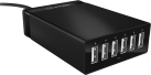 ICYBOX IB-CH601 - USB-Chargeur - 6 x USB - Noir