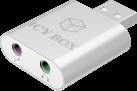 ICYBOX IB-AC527 - USB - pour Microphone et adaptateur casque - Argent