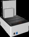 ICYBOX IB-141CL-U3 - Station d'accueil - avec USB 3.0 - Noir/Blanc
