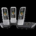 Gigaset C430A Trio - Telefono fisso con segreteria telefonica - 14h di conversazione - Nero/Argento