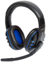 LIONCAST LX16 EVO - Gaming Headset - Kompatibel mit PC, PS4, PS3, Xbox One, Mac - Schwarz/Blau
