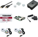 Raspberry Pi 3 Starter Kit RetroPie - Quad Core CPU 1,2GHz - Nero