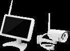 TECHNAXX Premium TX-29 - Security telecamera per videosorveglianza - Con monitor - Bianco