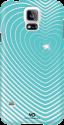 WHITE DIAMONDS Handy-Cover Heartbeat für Samsung Galaxy S5, mint