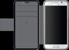 Black Rock Material Mesh Wallet - Für Samsung Galaxy S6 - Grau