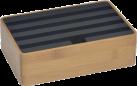ALLDOCK Ladestation 4x USB - Medium - Bambus/Schwarz