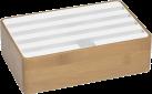 ALLDOCK Ladestation 4x USB - Medium - Bambus/Weiss