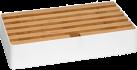 ALLDOCK Ladestation 6x USB - Large - Weiss/Walnuss