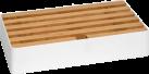 ALLDOCK Ladestation 6x USB - Large - Weiss/Bambus