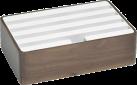 ALLDOCK Ladestation 4x USB - Medium - Walnuss/Weiss