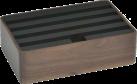 ALLDOCK Ladestation 4x USB - Medium - Walnuss/Schwarz